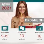 ПРОБНЕ ЗНО-2021: РЕЄСТРАЦІЯ